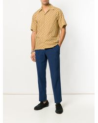 Entre Amis - Blue Drawstring Straight Leg Trousers for Men - Lyst