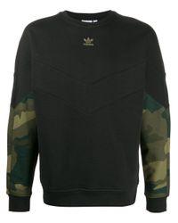 Adidas Sweatshirt mit Camouflage-Print in Black für Herren