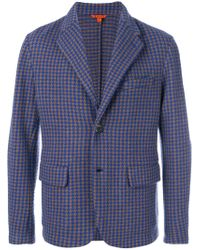 Barena - Blue Houndstooth Pattern Blazer for Men - Lyst