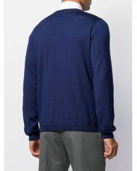 メンズ Prada ロゴ クルーネック プルオーバー Blue