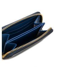 Anya Hindmarch Blue Small Smiley Wallet