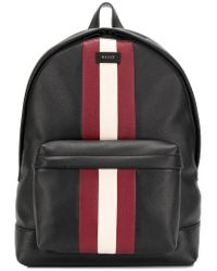 5d640a766 Bally Logo Patch Mini Backpack in Black for Men - Lyst