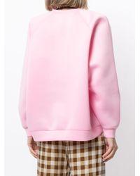 Cynthia Rowley クルーネック スウェットシャツ Pink