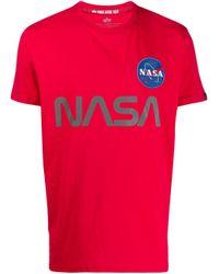 メンズ Alpha Industries Nasa Tシャツ Red