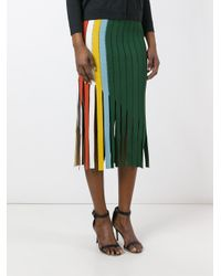 Marco De Vincenzo | Green Cut-out Panel Skirt | Lyst