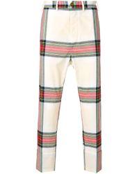 メンズ Vivienne Westwood チェックパンツ Multicolor