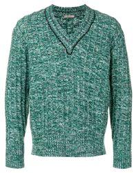 Пуловер С V-образным Вырезом Bottega Veneta для него, цвет: Green