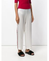 Beautiful Bottoms - White Pyjama Style Side Stripe Trousers - Lyst