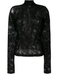 Hands sheer blouse di Vivetta in Black