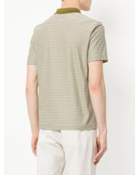 Cerruti 1881 - Green Striped Polo Shirt for Men - Lyst