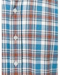 Etro - Blue Plaid Shirt for Men - Lyst