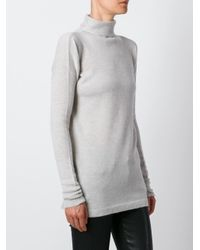 Fashion Clinic Timeless Gray Roll Neck Jumper