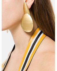 Monies - Metallic Oversized Clip-on Earrings - Lyst