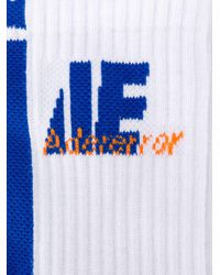 ADER ERROR White Monogram Logo Socks for men
