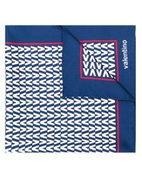 Écharpe à logo Valentino pour homme en coloris Blue