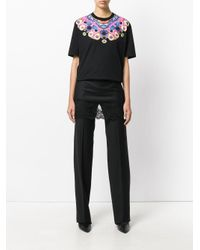 Givenchy Black Lace Overlay Tailored Trousers