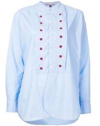 Camicia 'Battle' di Jupe by Jackie in Blue