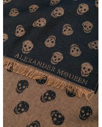 Alexander McQueen - Brown Skull Scarf for Men - Lyst