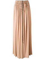 Lanvin プリーツマキシスカート Pink