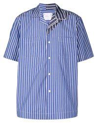 Camicia a righe di Sacai in Blue da Uomo