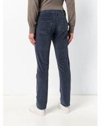 Jacob Cohen Blue Five Pocket Corduroy Trousers for men