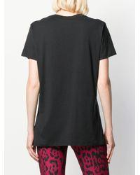 T-shirt con stampa di Just Cavalli in Black