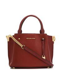MICHAEL Michael Kors Red Padlock Detail Tote Bag