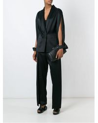 Chalayan Black Wide Military Trousers