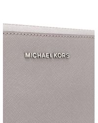 MICHAEL Michael Kors Gray 'Jet Set' Schultertasche