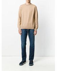 メンズ Fay エルボーパッチ セーター Natural