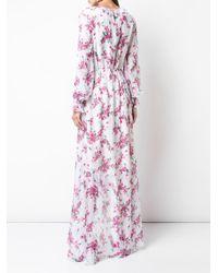 Rachel Zoe Multicolor Volant-Kleid mit Blumenmuster