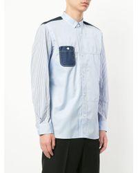 Junya Watanabe Blue Print Mix Shirt for men
