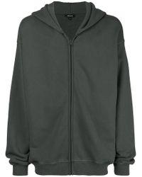 Yeezy Green Oversized Zip Front Hoodie for men
