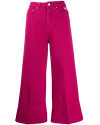 Jean ample crop MSGM en coloris Pink
