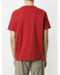 メンズ Osklen Big Box Tridente Tシャツ Red