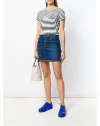 Chinti & Parker White Ivory Stripe Maud T-shirt