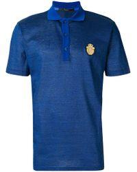 Billionaire - Blue Crest Patch Polo Shirt for Men - Lyst