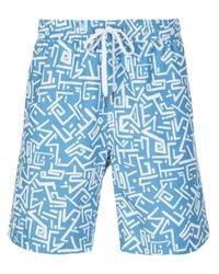 Onia Blue Masks Swim Shorts for men