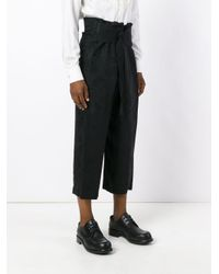 Ann Demeulemeester Black Jacquard Cropped Trousers
