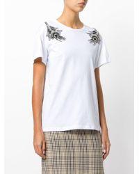 N°21 - White T-shirt Con Applicazioni - Lyst