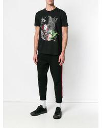 T-shirt à imprimé graphique Alexander McQueen pour homme en coloris Black