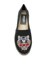 KENZO | Black Suede Tiger Espadrilles | Lyst