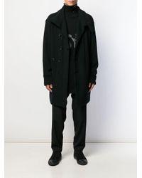 Cappotto monopetto di Yohji Yamamoto in Black da Uomo