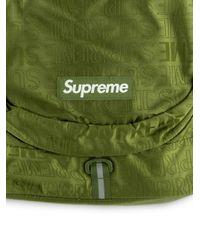 メンズ Supreme ロゴ バックパック Green