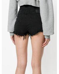 DIESEL - Black High Waisted Shorts - Lyst