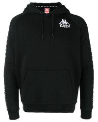 Kappa Black Logo Hoodie for men