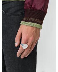 Maison Margiela - Metallic Logo Embossed Ring for Men - Lyst