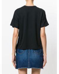 Rag & Bone Black Side Tie T-shirt