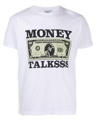 メンズ SSS World Corp Money Talks Tシャツ White
