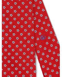 Corbata con motivo Gucci de hombre de color Red